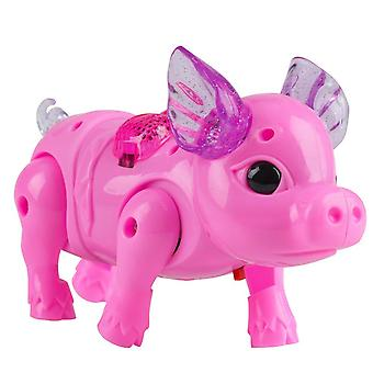Electric Walking And Singing Musical Light Pig Toy
