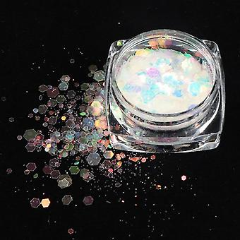Holographic Shapes Glitter Flakes For Nail Art And Decoration