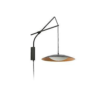 Slim Led Black Extensible Wall Lamp