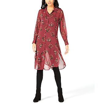 Project 28 NYC | Printed Button-Front Tunic Shirt