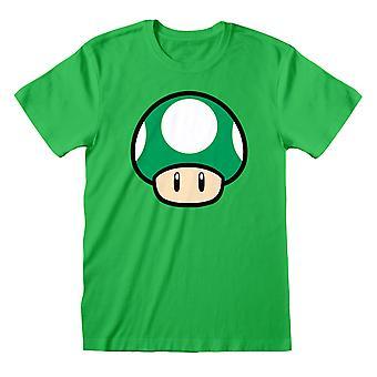 Super Mario Unisex Adulte 1-UP Mushroom T-Shirt