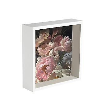 Nicola Spring Box Ramka do zdjęć - 6 x 6 kwadratowa ramka akrylowa - biała