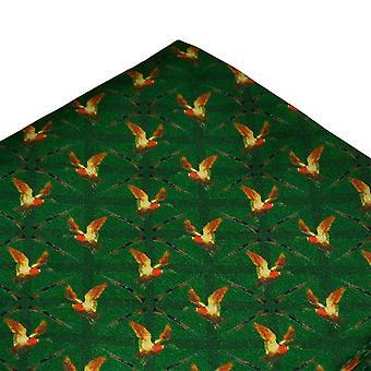 Legături Planet Green Duck Vânătoare De Mătase Pocket Square Batista