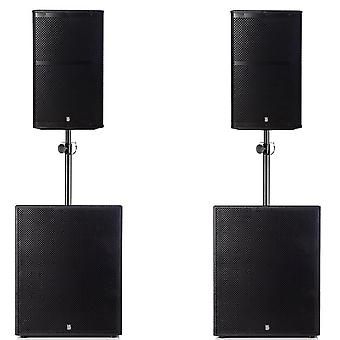 Big gig rig 6 - passive 2200w rms 12 tops and 15 subwoofer pa system