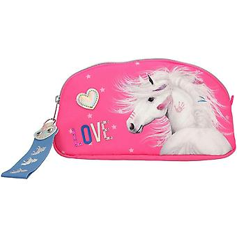 Miss Melody Love Pencil Case With Horse & Glitter Pencil Box Pink