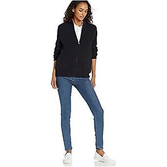 Brand - Daily Ritual Women's Cozy Boucle Zip-Front Cardigan Sweater, B...
