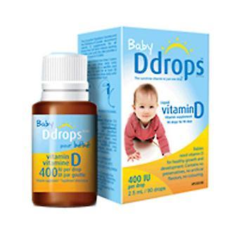 Ddrops Baby Vitamin D 90 Drops, 400 IU, 0.08 oz