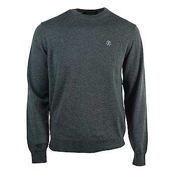Roberto Cavalli Brand Crest Knitted Grey Sweater