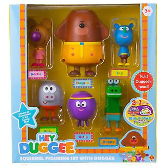 Hey duggee squirrel figurine set with duggee for ages 3+