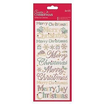 بريق دوت ملصقات - نص عيد الميلاد