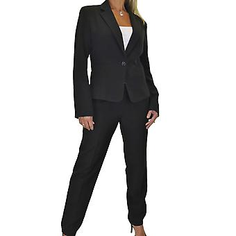 Women's Smart Business Office Lined Blazer Jacket Trousers Suit Ladies Formal Tailored Soft Long Sleeve 2 Piece 8-14