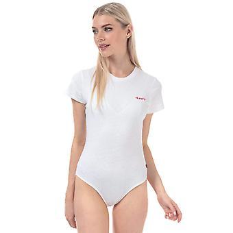Frauen's Levis Grafik Tee Body in weiß