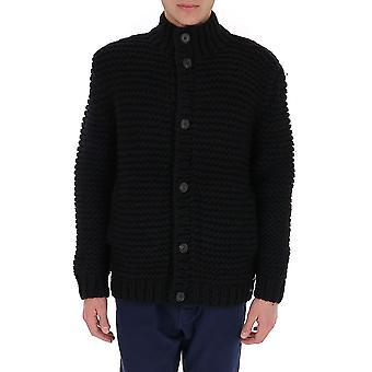 Fendi Fzc132ae40f0qa1 Men's Black Wool Cardigan