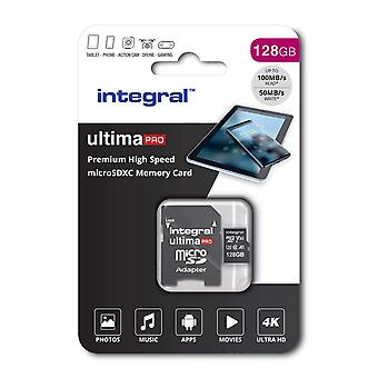 Integral 128gb micro sd card 4k video premium high speed memory card microsdxc up to 100mb/s v30 uhs