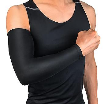 Men Sun Cycling Sleeves Arm Warmers, Breathable Quick Dry Uv Protection Running