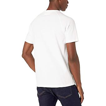Goodthreads Men's Short-Sleeve Sueded Jersey Henley, Bright White X-Large Tall