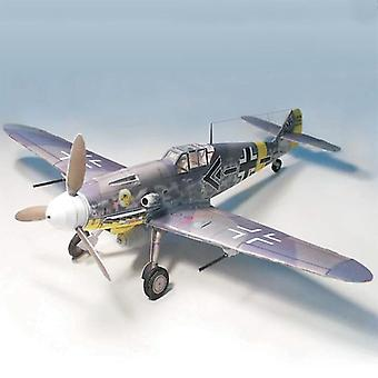 Tysk Fighter Messerschmitt Bf-109, Diy 3d Papir Kort Model Building Sæt