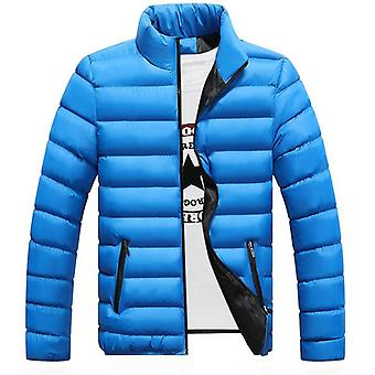 Winter Fashion Stand Collar Parka Jacket Mens Solid Thick Jackets And Coats