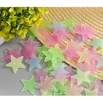 Star Shape Luminous Stickers, Glow In The Dark