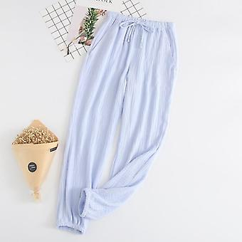 Νέο ζευγάρι 100% βαμβάκι γάζα κρέπα ύπνο κάτω πιτζάμα παντελόνι παντελόνι