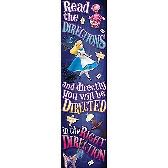 Alice In Wonderland Directions Vertical Banner