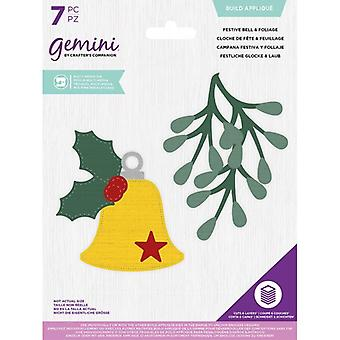 Gemini Festive Bell & Foliage Build Appliqué Multi Media Die