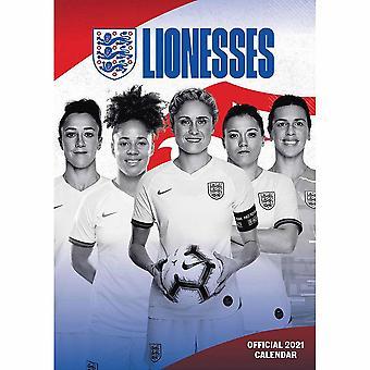 England FA Lionesses 2021 A3 Wall Calendar
