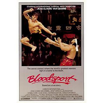 Impresión de póster de película Bloodsport (27 x 40)