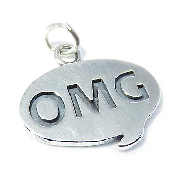Omg Sterling Silver Charm .925 X 1 Sms Texte Discours Bulle Charmes - 8299