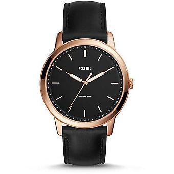 Fossil FS5376 The Minimalist Slim Quartz Black Dial Men's Watch