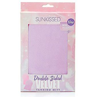 Sunkissed Double Sided Velvet Tanning Mitt - Purple