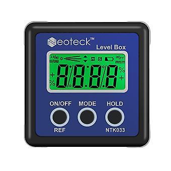 Aluminum Alloy Mini Digital Protractor Inclinometer, Electronic Level Box,