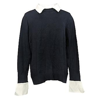 Laurie Felt Women's Sweater Layered Pullover Black A384017