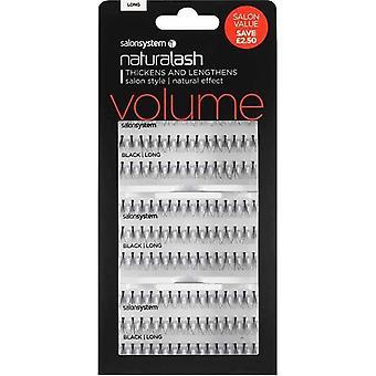Salon System Naturalash Individual Lashes - Black Long - Salon Value Pack