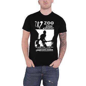 U2 T Shirt Outside Broadcast Giants Stadium Band Logo new Official Mens Black