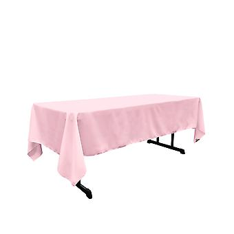 Mantel rectangular Poplin de poliéster de lino de 60 por 144 pulgadas, rosa claro