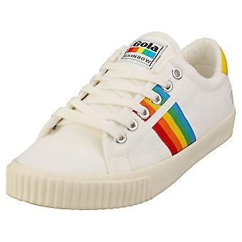 Gola Tennis Mark Cox Rainbow 2 Femmes Fashion Trainers in Off White Multicolore