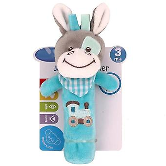 Baby Rattle Mobiles Cute, Cartoon Animal Hand Bell Rattle Soft Toddler