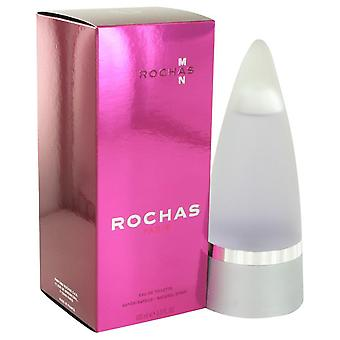 ROCHAS Man Eau De Toilette Spray por Rochas 3.4 oz Eau De Toilette vaporizador