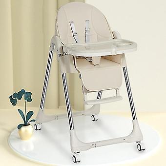 Matstol med hög fot matstol vikbar multifunktionellt bord och stol