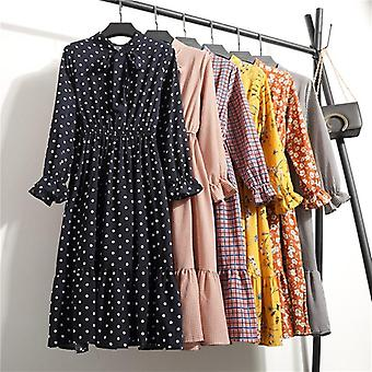 Polka Dot Vintage Autumn Dresses