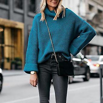 Plus Size Warm Turtleneck Sweater Knitwear