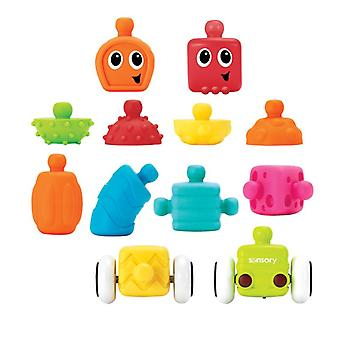 Infantino sensorisk plugg og rull multi blokker sett