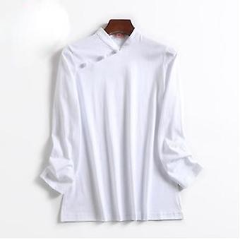 Unisex pure Baumwolle Frühling &Herbst Kung Fu Martial Arts Shirts, Uniformen Anzüge