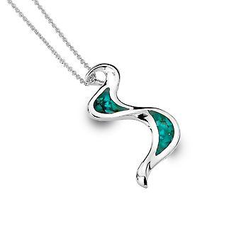 Collier Sterling Silver Pendentif - Origins RiPendant Necklaceide + Turquoise