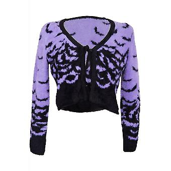 Too Fast Fly Me Bats Fuzzy Mohair Cardigan