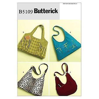 Butterick Syning Mønstre 5109 Håndtasker Taske One Size Tilbehør