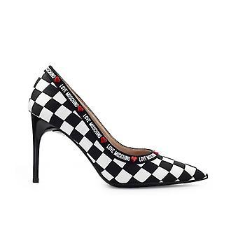 Love Moschino Black White Checkered Pump