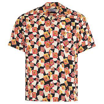 Portuguese Flannel Cubismo Short Sleeve Shirt - Multi Coloured
