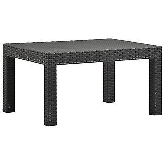 vidaXL puutarha pöytä antrasiitti 58x58x41 cm PP